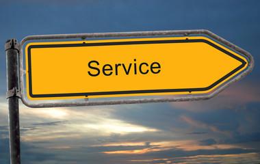 Strassenschild 19 - Service