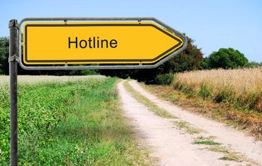 Strassenschild 21 - Hotline