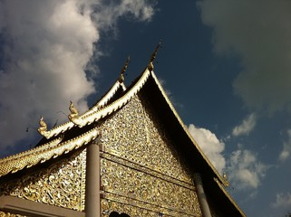 traditional northern Thai temple in Chiangmai