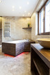canvas print picture - Modern bathtub in luxury bathroom