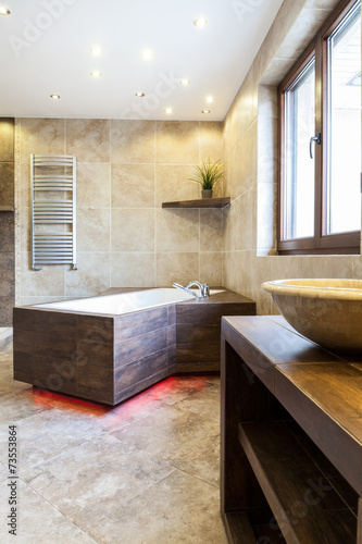 canvas print picture Modern bathtub in luxury bathroom