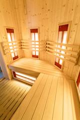 Vertical view of sauna