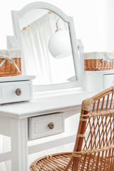 Close-up of beauty dressing table