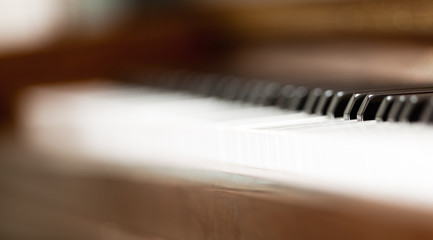 Piano close-up. shallow depth of field