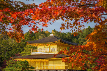 Golden Pavilion Kinkakuji Temple in Kyoto Japan
