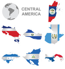 Flags of Central America collection