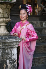 Asian woman dressed in Thailand.
