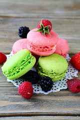 Fresh Berries and macaroon
