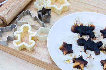 Christmas cookies burn