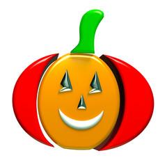 Pumpkin halloween symbol 3D image
