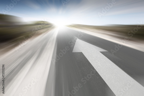 Road with arrow - 73555296