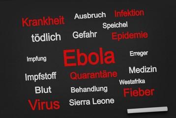 Ebola auf Tafel