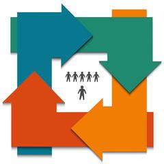 infographics-arrow-circle-color-business-process-management