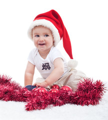 First christmas of a baby boy