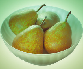 Retro look Pear picture