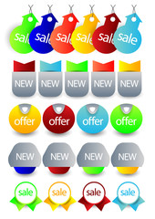 sale/offer banners,tags label or bookmark