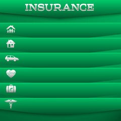 insurance-services-concept-on-green-background-Card
