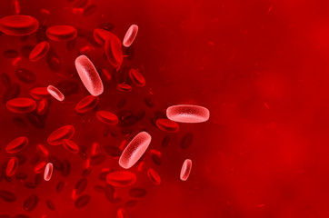 Red blood cells - human immune system. Healthcare concept