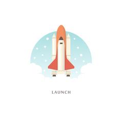 Launch. Vector illustration.