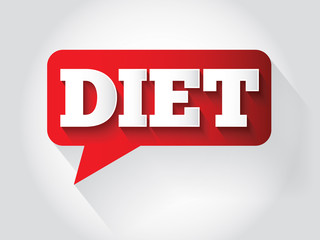 DIET Message bubble, promotional background, presentation