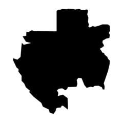 vector map of map of Gabon
