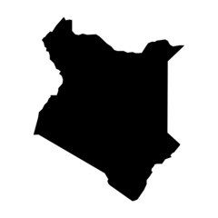 vector map of map of kenya