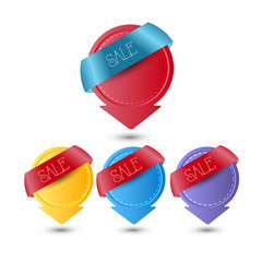 web sale or discount banner/badge or tags