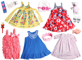 colorful dresses for baby girls background