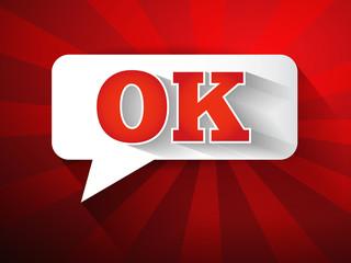 OK Message bubble, promotional background, presentation poster