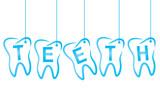 Fototapety Dental the inscription teeth