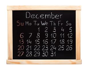 2015 year calendar. December. Week start on sunday