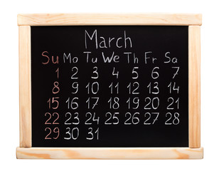 2015 year calendar. March. Week start on sunday