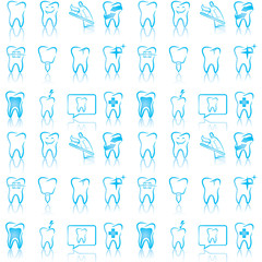 Smiling dental icons