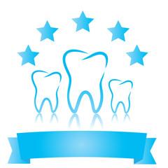 Dental symbols. Five stars
