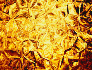 golden colored relief crystal fire backgrounds