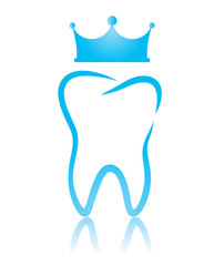 A dental symbol tooth, a king tooth