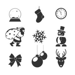 icons on a subject Christmas for your design