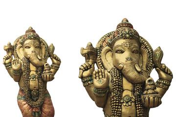 Ganesha  on a white background