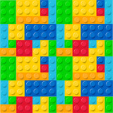 Fototapeta Fototapety na ścianę do pokoju dziecięcego - Lego pattern vector © Wiktoria Matynia