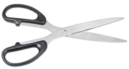pair of scissors for paper with black handles