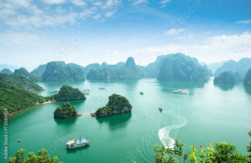 Halong Bay in Vietnam. Unesco World Heritage Site.