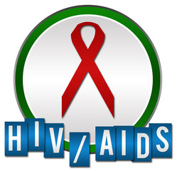 HIV Aids Circle Stripes