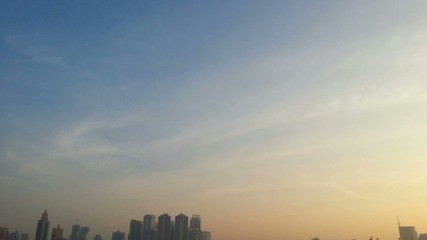Cityscape, Sunshine morning time of Bangkok city, Timelapse