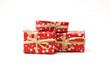 Leinwandbild Motiv Christmas presents isolated on white background