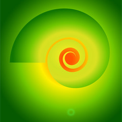 Fibonacci-spiral-vortex-on-a-bright-green-background