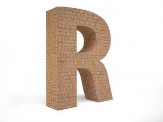 Brick Letter R
