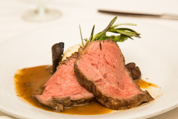 Prime Rib with Gravy and Rosemary