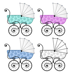 Colorful strollers
