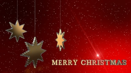Christmas Ornaments Background Red