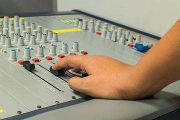 mixer control audio broadcast